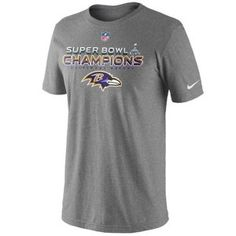 It's time to suit up and purchase your official Nike Baltimore Ravens Super Bowl XLVII Champions Trophy Collection T-Shirt.