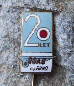 1969 Czechoslovakia Brno City CSAD State Bus Company 20th Anniversary Pin Badge 20th Anniversary, Pin Badges, History, Retro, City, Design, Historia, City Drawing, Cities