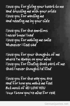 New love quote for him poem