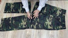 [DIY] Werfen Sie keine ungetragenen Militärhosen weg. Military Pants, Refashion, Youtube, Outdoor Blanket, Sewing, Upcycle, Army Pants, Puertas, Military Men