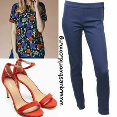 Print Shell Top size 14 22 24 #6000 Chinos size 10 22 #3500 Orange Sandals size 6/39 #9000 www.questworld.com.ng Pay on delivery in Lagos Nationwide Delivery