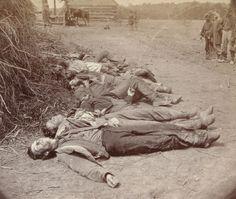Confederate dead.