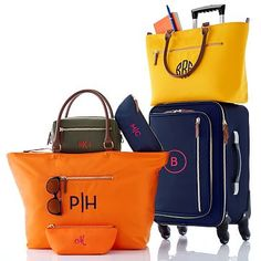 Vibrant Travel Tote #makeyourmark  Green / Monogrammed                                                                                                                                                                                 More