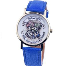 2016 New Hogwarts School Design Magic School Watch, Hogwarts Magic Pattern Badges Leather Watch Unisex Watch