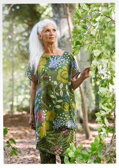 """""""Woodland"""" linen & cotton tunic – Blouses & waistcoats – GUDRUN SJÖDÉN – Webshop, mail order and boutiques 