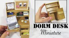 Miniature Dorm Desk Tutorial