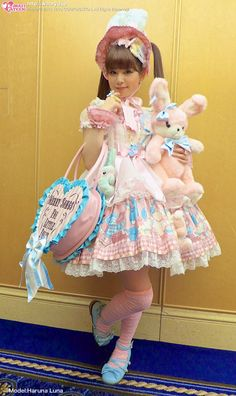 "kawaii-b: "" 春奈るな -Haruna Luna- at the Angelic Pretty Tea Party last Christmas - from Kawaii Pateen Her outfit is just perfect"