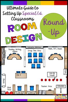 Classroom Design: The Ultimate Guide to Autism Classroom Setup I've rounded up all my posts on classroom design and setting up the physical environment of the special education classroom. Lots of floorplans and descriptions for all different ages. Classroom Floor Plan, Classroom Setup, Classroom Design, Preschool Classroom Layout, Preschool Themes, Preschool Printables, Future Classroom, Life Skills Classroom, Autism Classroom