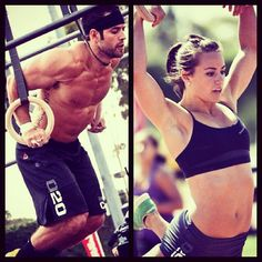 Rich Froning and Camille Leblanc-Bazinet