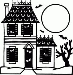 Awesome Image of Haunted House Coloring Pages . Haunted House Coloring Pages Haunted House Coloring Page Printable Halloween Coloring Ebook Haunted House Drawing, Haunted House For Kids, Halloween Haunted Houses, Halloween Quilts, House Colouring Pages, Coloring Pages To Print, Coloring Book Pages, Coloring Pages For Kids, Halloween Coloring Pages Printable