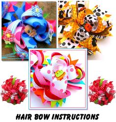 Learn To Make Hair Bows | edition no sew How to make Boutique Custom Hair Bows Korker Bows ...
