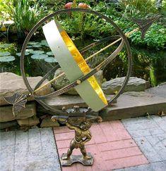 Large Solid Brass & Iron Hercules Sundial ~ Garden Decor, 2015 Amazon Top Rated Sundials #Lawn&Patio
