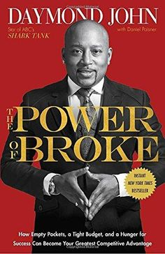 The Power of Broke by Daymond John, Daniel Paisner.  John draws from his experience founding FUBU on a $40 budget and building it into a $6 billion brand, to show how being broke can force us to think more creatively, use resources more efficiently, connect with customers more authentically, and come up with those out-of-the-box solutions required to stand out. Drawing on stories from dozens of entrepreneurs who have bootstrapped their way to wealth, he shows how to leverage the power of…