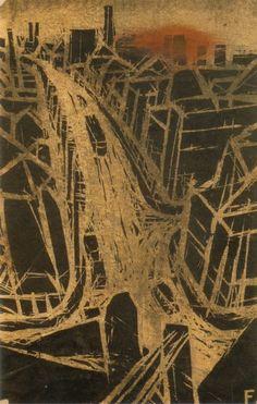 藤牧義夫 『赤陽』 昭和9年作 東京国立近代美術館所蔵