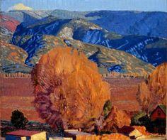 Ernest Blumenschein, ' Taos Valley and Mountain'.
