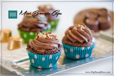 Mini Brownie Cups with Rolo Centers - Big Bang Bites