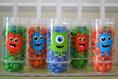 Push up pops filled with candy at a Halloween Monster Bash Full of Awesome Ideas via Kara's Party Ideas   KarasPartyIdeas.com  Would be cute anytime!