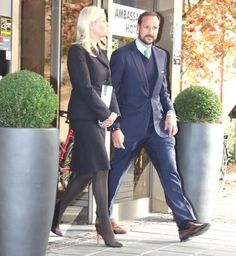 On October 19, 2015, Crown Prince Haakon of Norway and Crown Princess Mette-Marit of Norway attends the conference on 'Multicultural Value Creation' in Drammen, Norway.