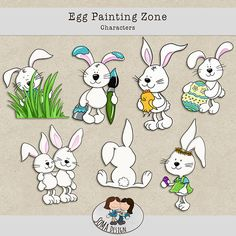 SoMa Design Egg Painting Zone Characters Digital Scrapbooking, Comics, Egg, Characters, Painting, Design, Eggs, Egg As Food, Painting Art