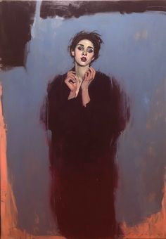 Malcolm T Liepke - Contemporary Artist - Figurative Painting - Wrapped in Black