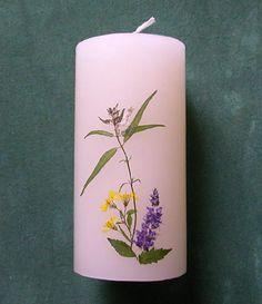 ZALAC: Pressed Flower Candle #0715 http://lumierespournosdefunts.blogspot.fr/