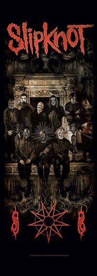 Slipknot Fabric Door Poster Crest