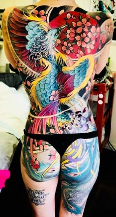 Chest Tattoos For Women, Beautiful Tattoos For Women, Gorgeous Tattoos, Asian Tattoos, Hot Tattoos, Body Art Tattoos, Tattoo Girls, Girl Tattoos, Phönix Tattoo