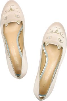 Charlotte Olympiasatin kitty loafers...farthest thing from city-friendly but i want them anyway.