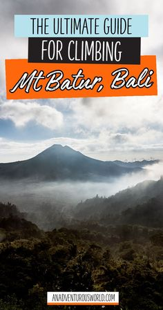 The Ultimate Guide for Climbing Mt Batur, Bali - The Mt Batur sunrise hike is one of the best things you can do while in Bali, but heres what its really like hiking to the top of Mt Batur! >> Click through to read the full post!
