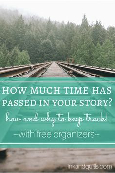 It's important to keep track of your story's timeline to avoid embarrassing mistakes or inconsistencies. Here are some free organizers to help you stay on top of things! http://inkandquills.com/2015/05/20/how-much-time-has-passed-in-your-story-how-and-why-to-keep-track/