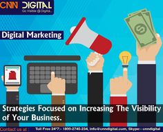 Digital marketing strategies focused on increasing visibility of business.
