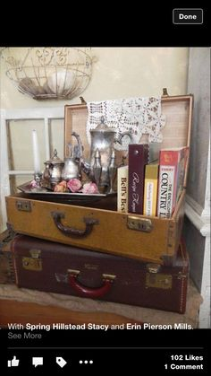My next DIY craft! this suitcase furniture is the perfect mixture of boho hipster <3 #CuteFurniture