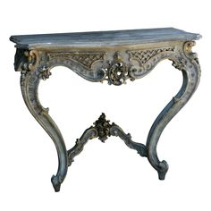 Shop console tables and other modern, antique and vintage tables from the world's best furniture dealers. Antique Furniture, Cool Furniture, Painted Furniture, Vintage Table, Marble Top, Console Table, 18th Century, Baroque, Entryway Tables