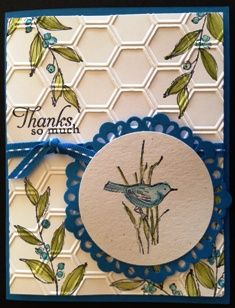 Card Simply Sketched hostess - love the embossing folder with this stamp set