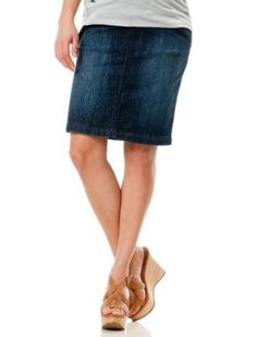 Motherhood Maternity: Indigo Blue Secret Fit Belly(r) Knee Length Straight Fit Maternity Skirt Motherhood Maternity. $34.98