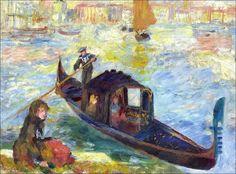 Pierre-Auguste Renoir (1841-1919) / Gondola, Venice