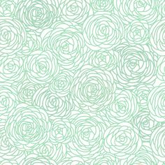 Removable Wallpaper  Blossom Print Mint by GailWrightatHome, $20.00