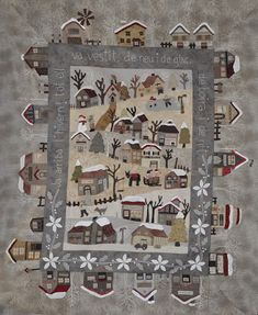 Sudenly a lot of people is being interested in this quilt and asking me for the patterns. I´m a patchwork teacher and I do not devote. Christmas Crafts Sewing, Christmas Quilt Patterns, Quilt Block Patterns, Quilt Blocks, Wool Applique, Applique Quilts, Paper Piecing, Japanese Quilts, Cute Quilts