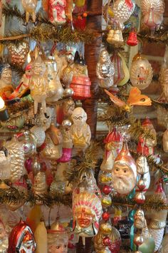 Antique Christmas Ornaments - Many of these were created by Inge-Glas of Germany, the oldest Christmas ornament company in the world - FIND today's Inge-Glas ornaments at www.mygrowingtraditions.com