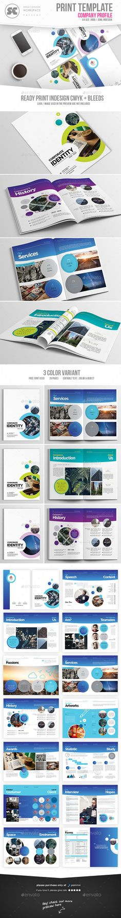 Brochure design created for an event management company based in - corporate profile template