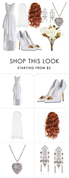 """""""Untitled #658 3"""" by paigealicia ❤ liked on Polyvore featuring Chicwish, Versace, Monsoon and Pier 1 Imports"""