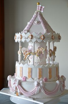 This Is My Version Of A Carousel Cake on Cake Central