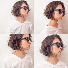 Pin on Girl Q hair Q Hair, Wavy Hair, Short Curly Hair, Short Hair Cuts, Medium Hair Styles, Curly Hair Styles, Angled Bob Hairstyles, Hair Arrange, Lob Haircut