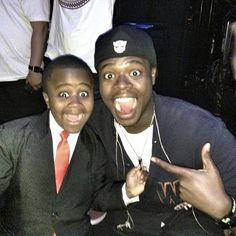 K.O. and Kid President. They look like brothers!!! I can't even.....sooo cute!!! <3