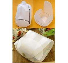 Milk Jug Container idea      (http://theberry.com/2011/08/01/show-off-your-crafty-side-27-photos/)