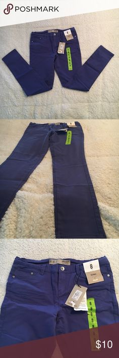 Royal Blue jeans! NWT NWT! Have been sitting in my closet :)  Size: 8 Skinny to the leg  Mid rise  Inseam: 27 inches Pants Skinny