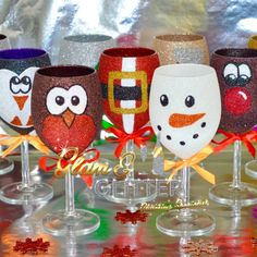 NOVELTY CHRISTMAS DESIGN WINE GLASSESOur Christmas design wine glasses will be a great talking point for your Christmas table. If you choose the Mixed 6 Pack option please add the designs you would like to the provided message box at checkout.Why not add some Xmas personalisation to your glass, perfect as an alternative to Xmas table name cards and a token of he day to take home.If you want something you can't see on the site or are wanting a special custom made glitter or vinyl design glass…