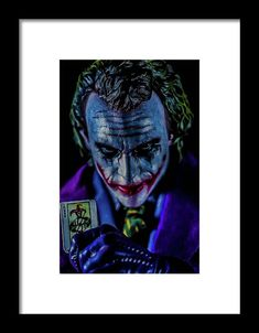 Joker Framed Print by Jeremy Guerin. All framed prints are professionally printed, framed, assembled, and shipped within 3 - 4 business days and delivered ready-to-hang on your wall. Choose from multiple print sizes and hundreds of frame and mat options. Joker Card, Poster Prints, Framed Prints, Powerful Images, Calling Cards, Toys Photography, Frame Shop, Print Artist, Hanging Wire