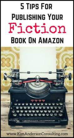 5 Tips For Self Publishing Your Fiction Book on Amazon.  Chris Stoesen offers fiction writing tips and self-publishing tips that he's learned as an author.  These tips might just help you avoid some publishing mistakes!