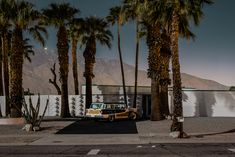 Palm Springs photographed entirely by the light of the full moon